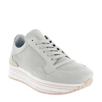 Marike suède plateau sneakers off white