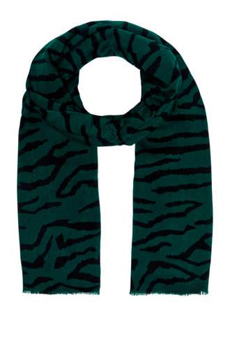 sjaal met tijgerprint groen