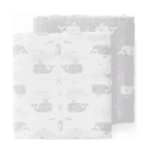 Swaddle Fresk 120x120 2st. Whale Dawn Grey