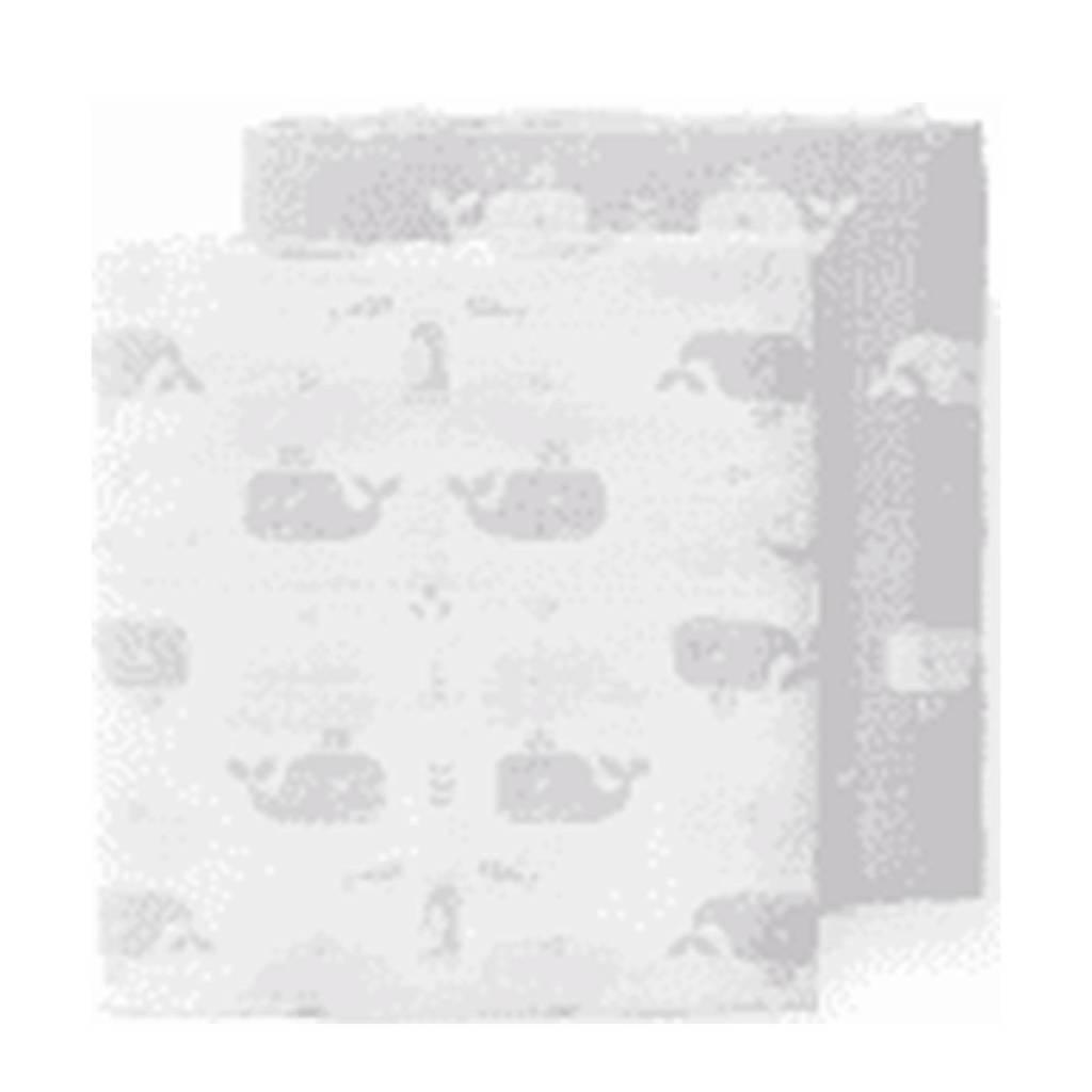 Fresk hydrofiele luier 120x120 cm -set van 2 wit/lichtgrijs, Wit/lichtgrijs