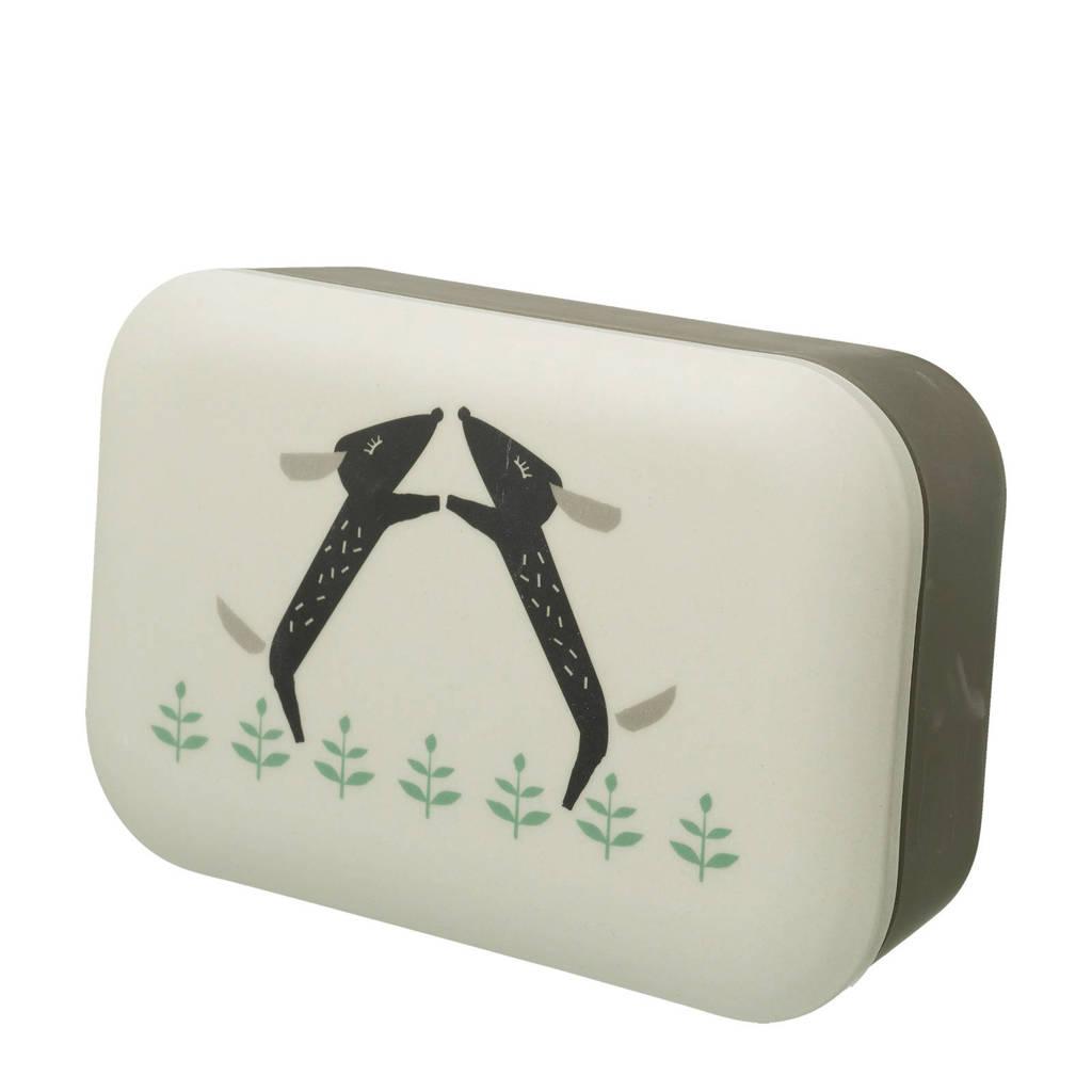 Fresk lunchbox Dachsy, Ecru/groen