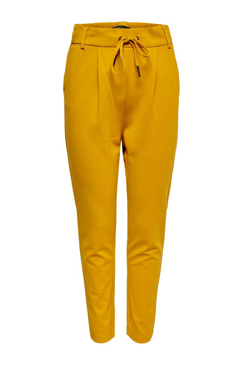 ONLY slim fit broek geel, Geel