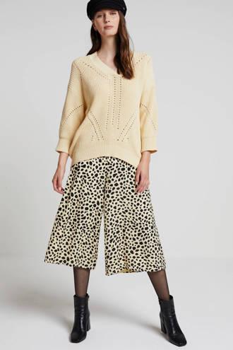 culotte met all over print geel/zwart