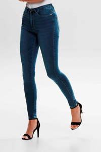 ONLY high waist skinny jeans ONLROYAL dark blue denim, Donkerblauw