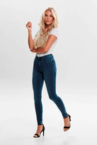 ONLY high waist skinny jeans donkerblauw, Donkerblauw
