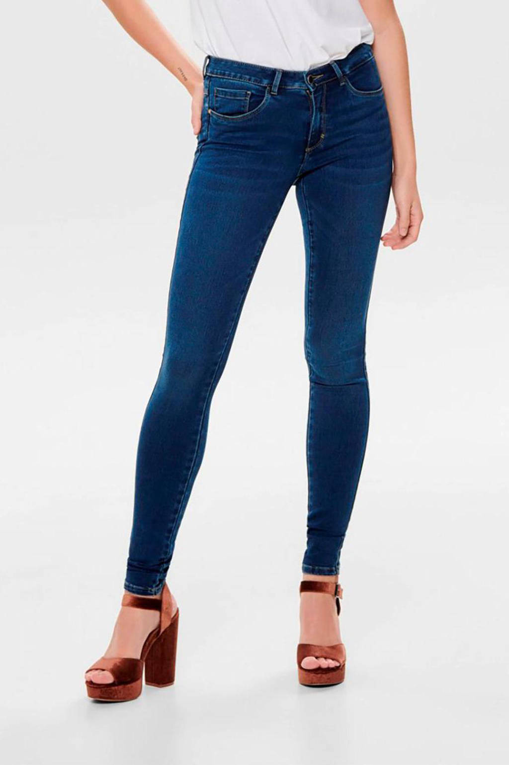 ONLY skinny jeans ONLROYAL dark blue denim, Dark blue denim