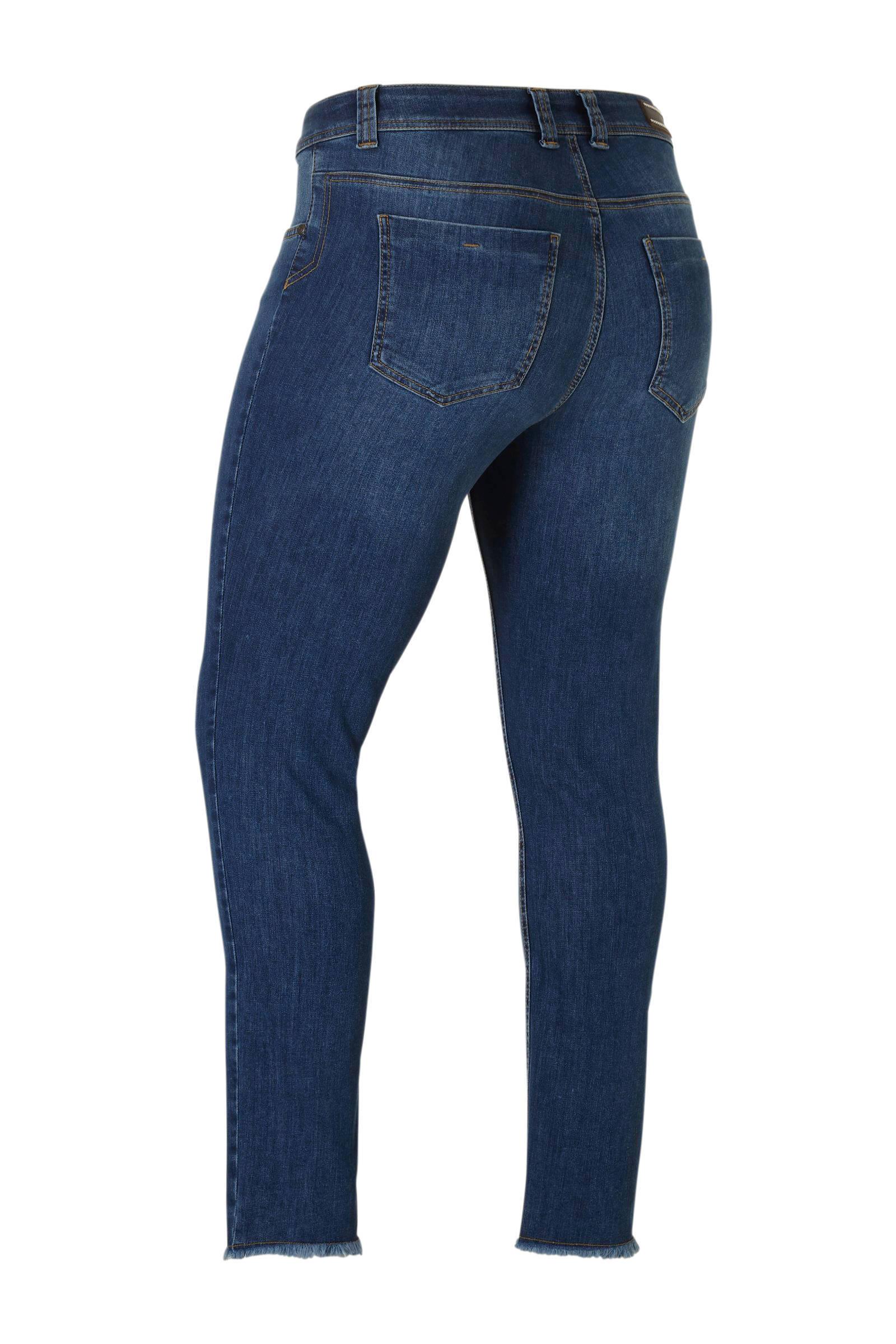 Ulla Popken skinny jeans donkerblauw