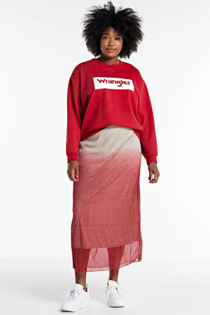 sweater met logo rood/wit