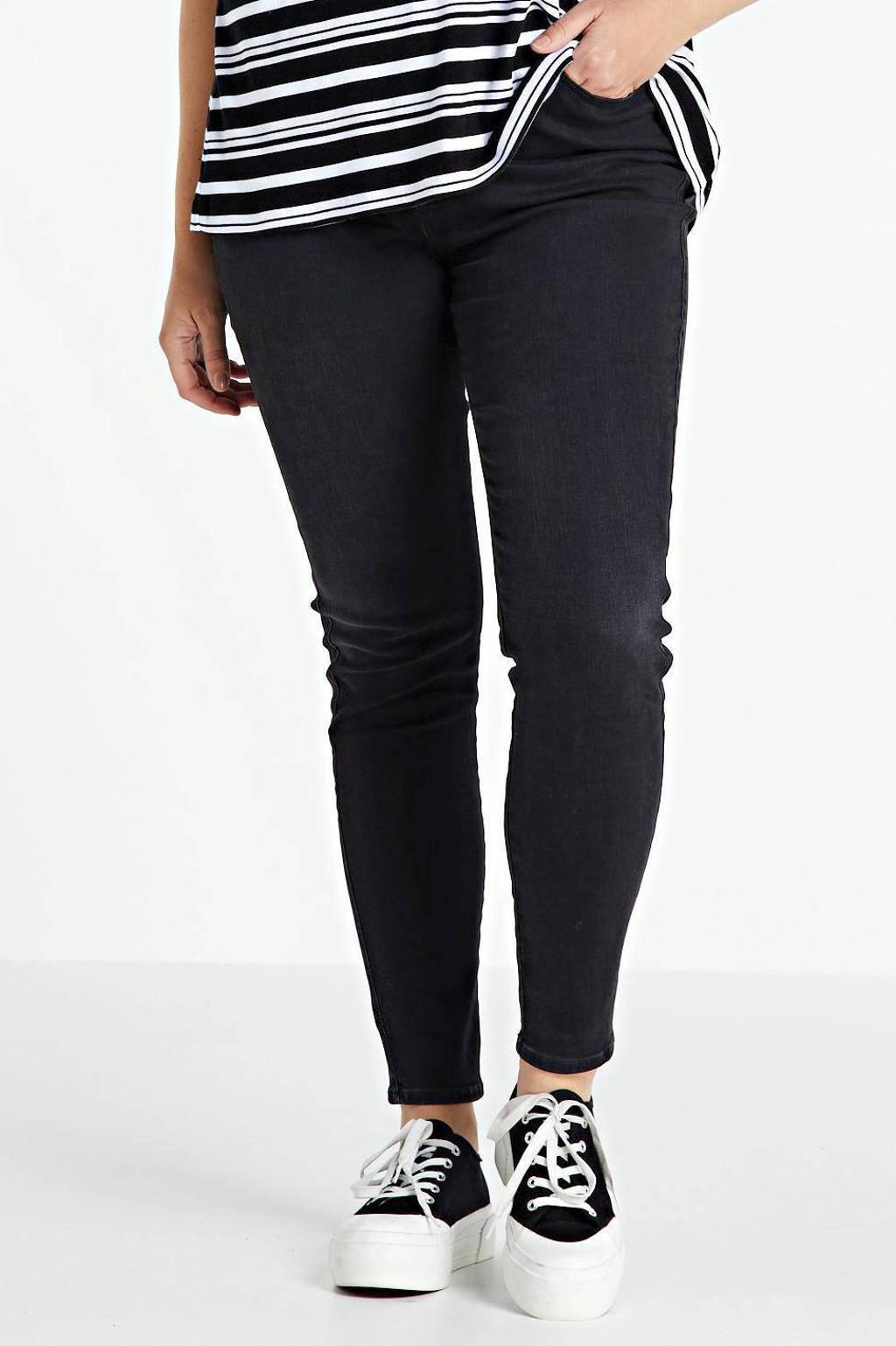 Wrangler Plus skinny jeans zwart, Zwart