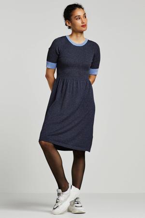jurk Mabely met glitters blauw