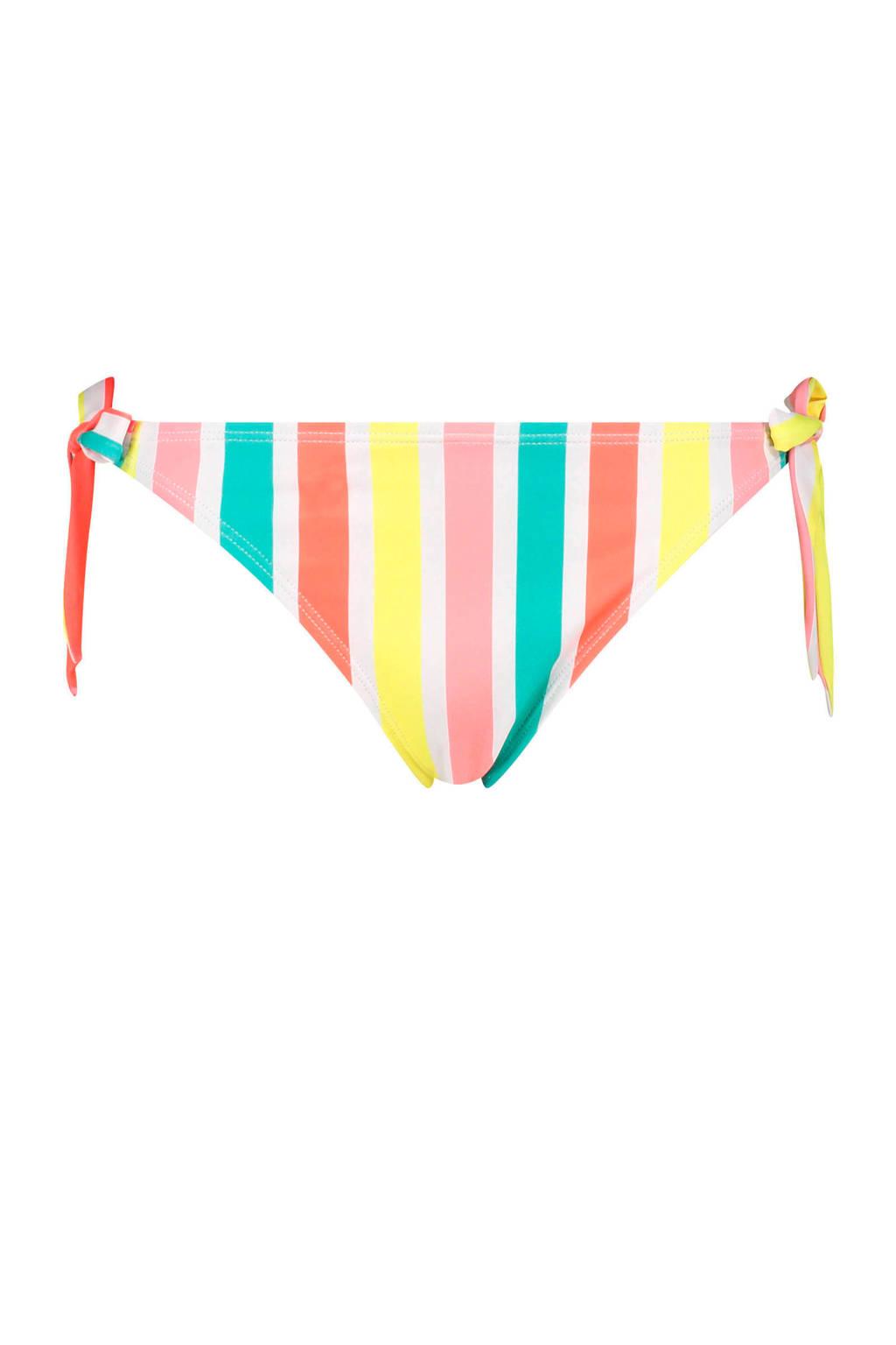 Hunkemöller tanga strikbroekje Tropics roze/blauw/geel/oranje/wit, Roze/blauw/geel/oranje/wit