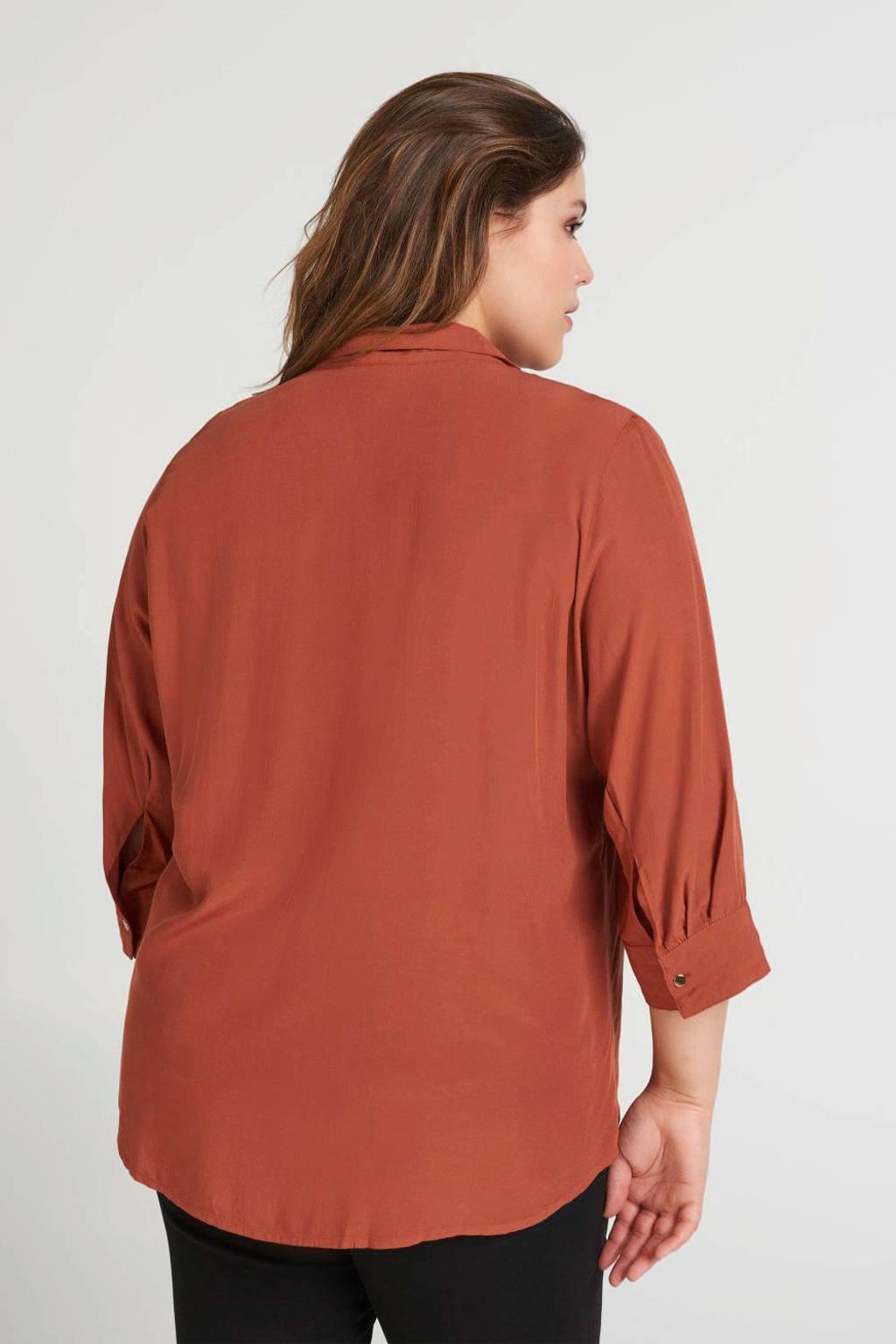 Zizzi blouse mahonie, Mahonie