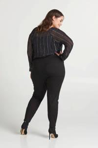 Zizzi slim fit broek zwart, Zwart