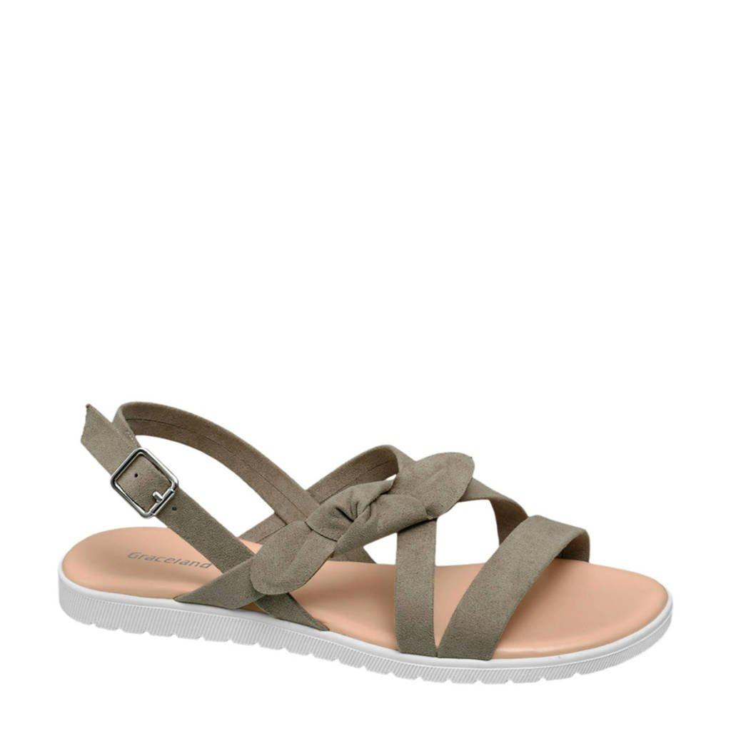 Graceland sandalen kaki, Kaki
