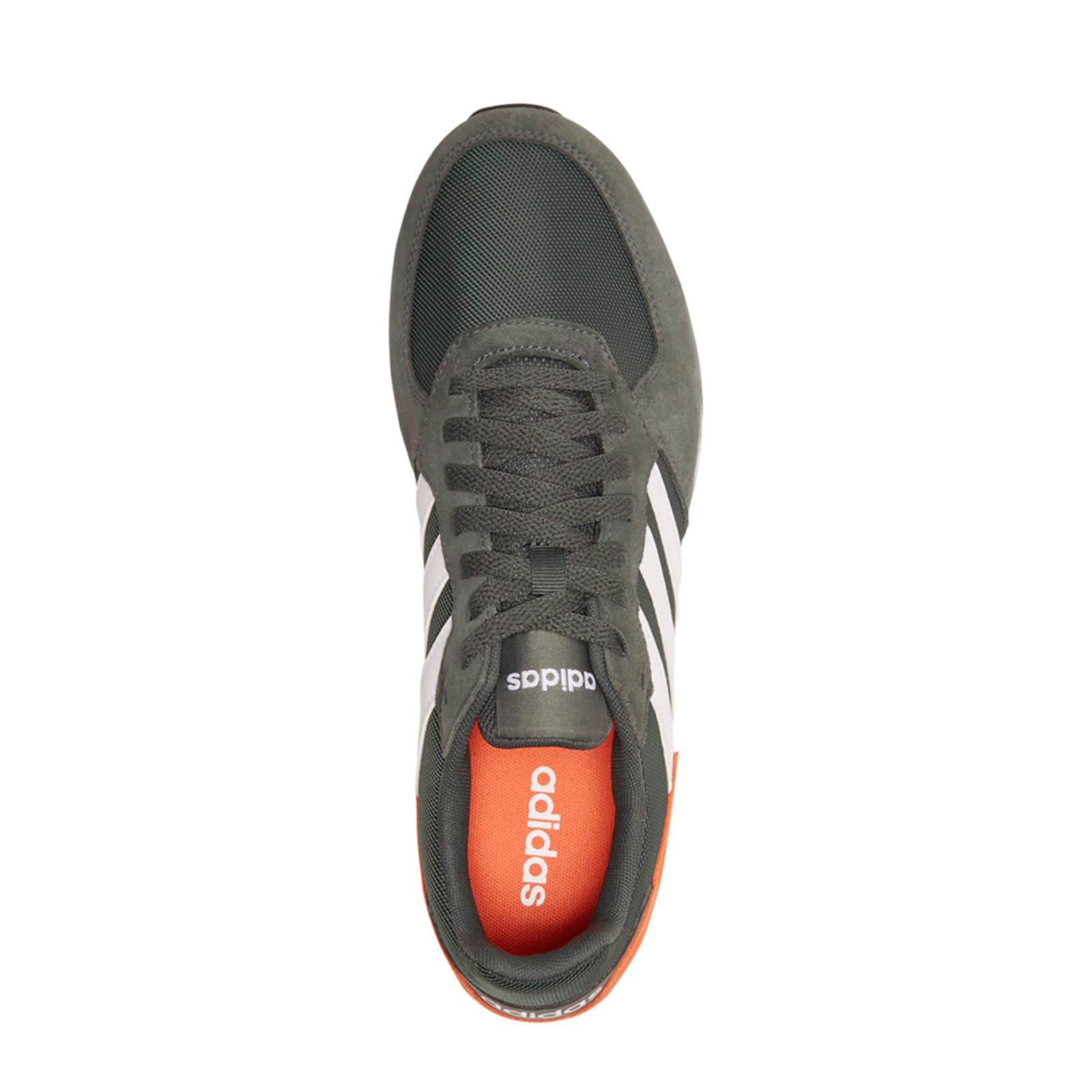 adidas 8K leren sneakers zwartoranjewit | wehkamp