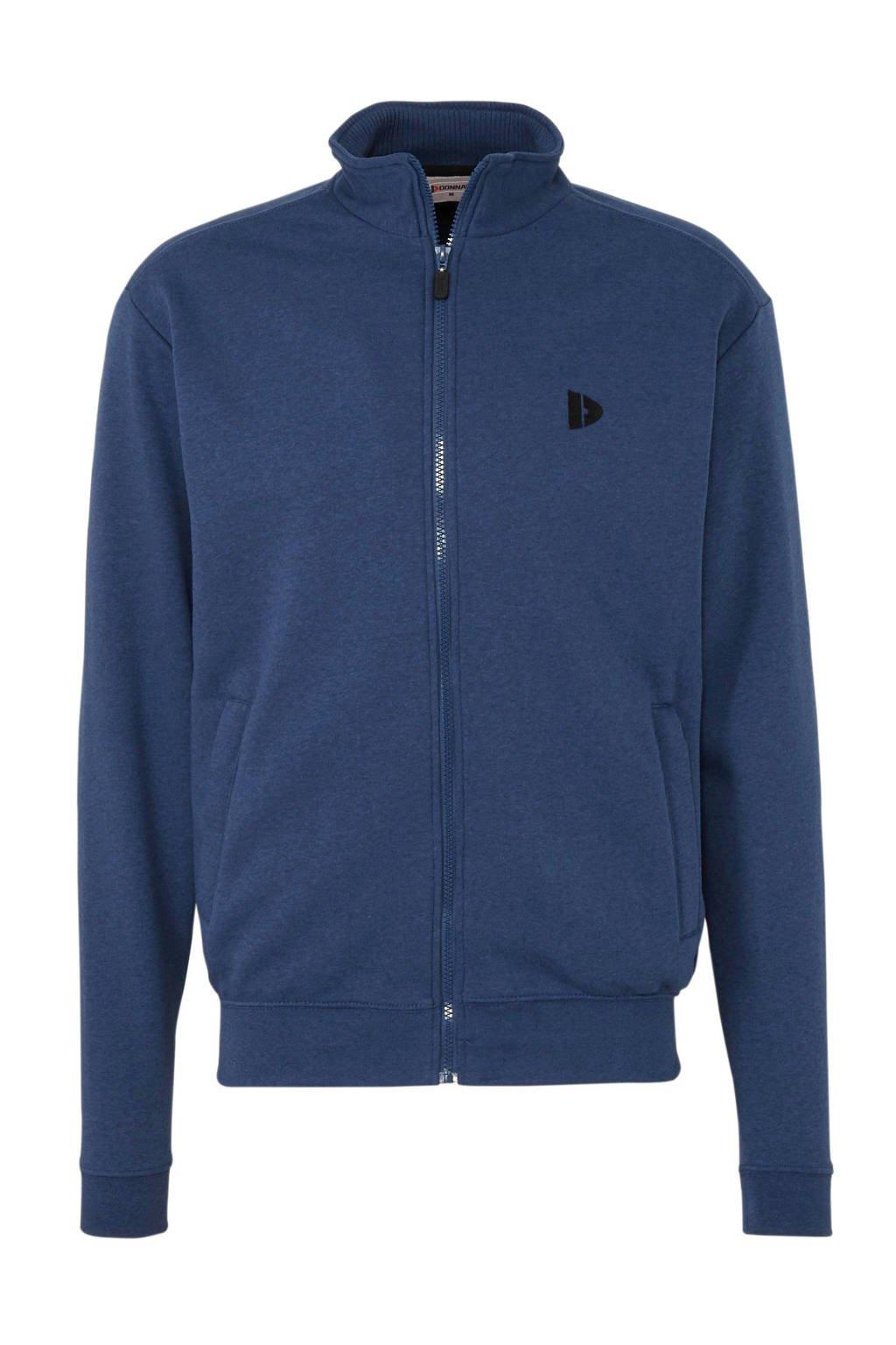 Donnay   sportvest blauw gemeleerd, blauw melange