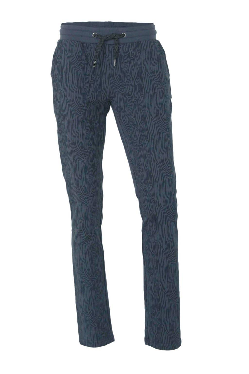 Donnay sportbroek zebraprint, Donkerblauw/zwart