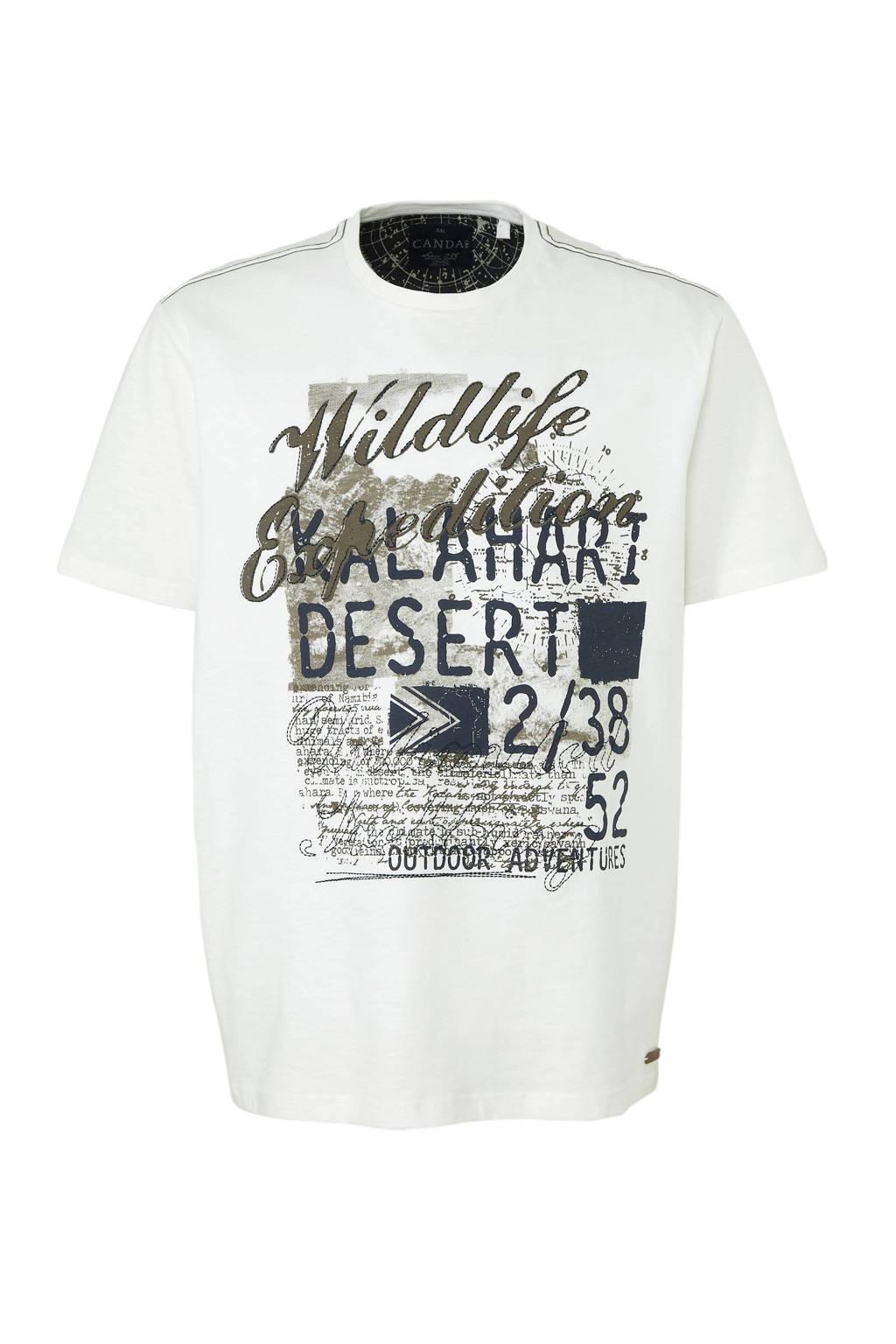 C&A XL Canda T-shirt met printopdruk wit, Wit