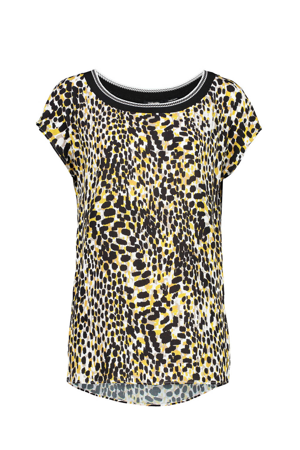 Claudia Sträter top met all over print, sand