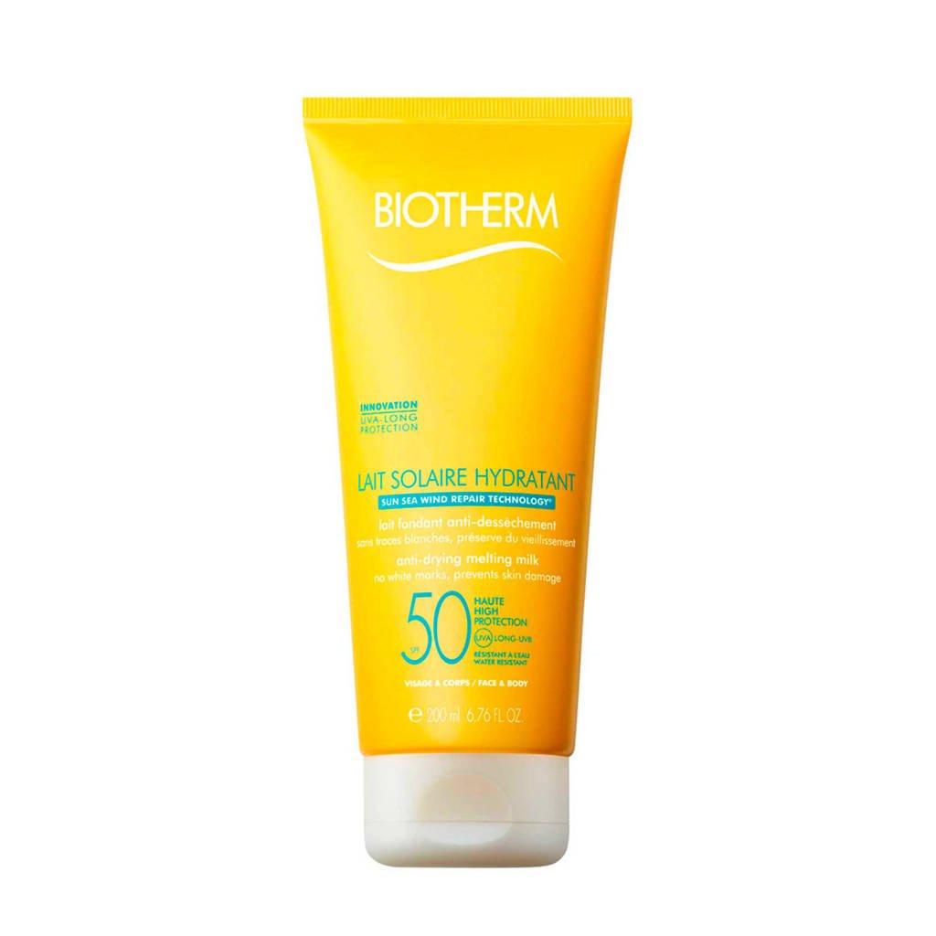 Biotherm Solaire Basic Lait Solaire Hydratant SPF50 zonnebrand - 200 ml, Zonnefactor SPF 50