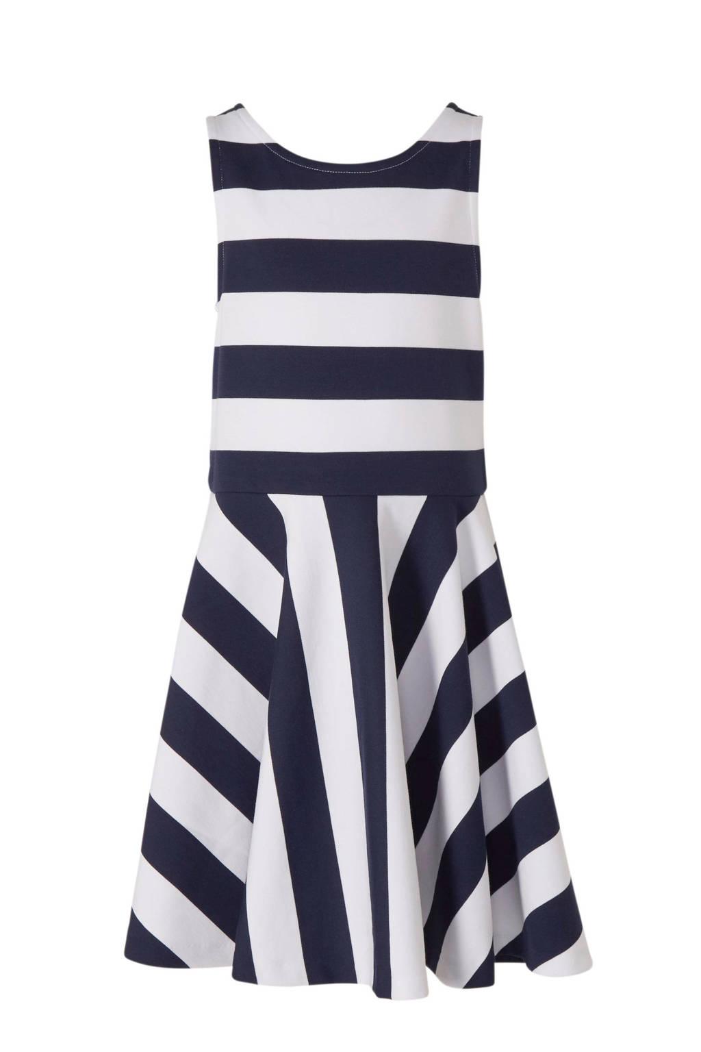 POLO Ralph Lauren gestreepte jurk donkerblauw/wit, Donkerblauw/wit