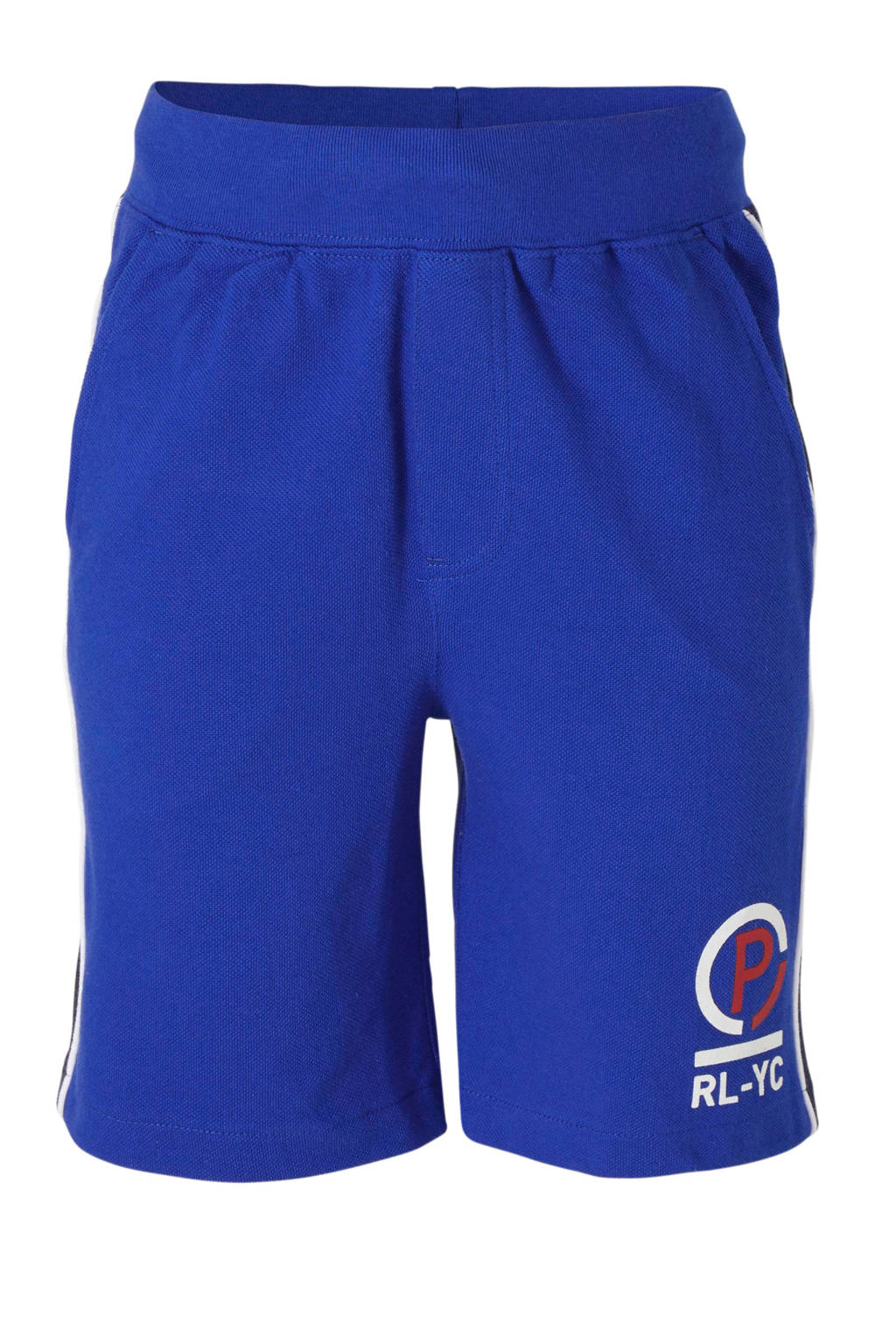 POLO Ralph Lauren short met zijstreep blauw/donkerblauw, Blauw/donkerblauw