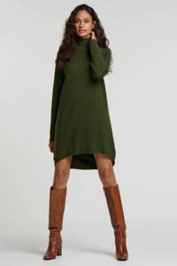 Minimum jurk met wol donkergroen, Donkergroen