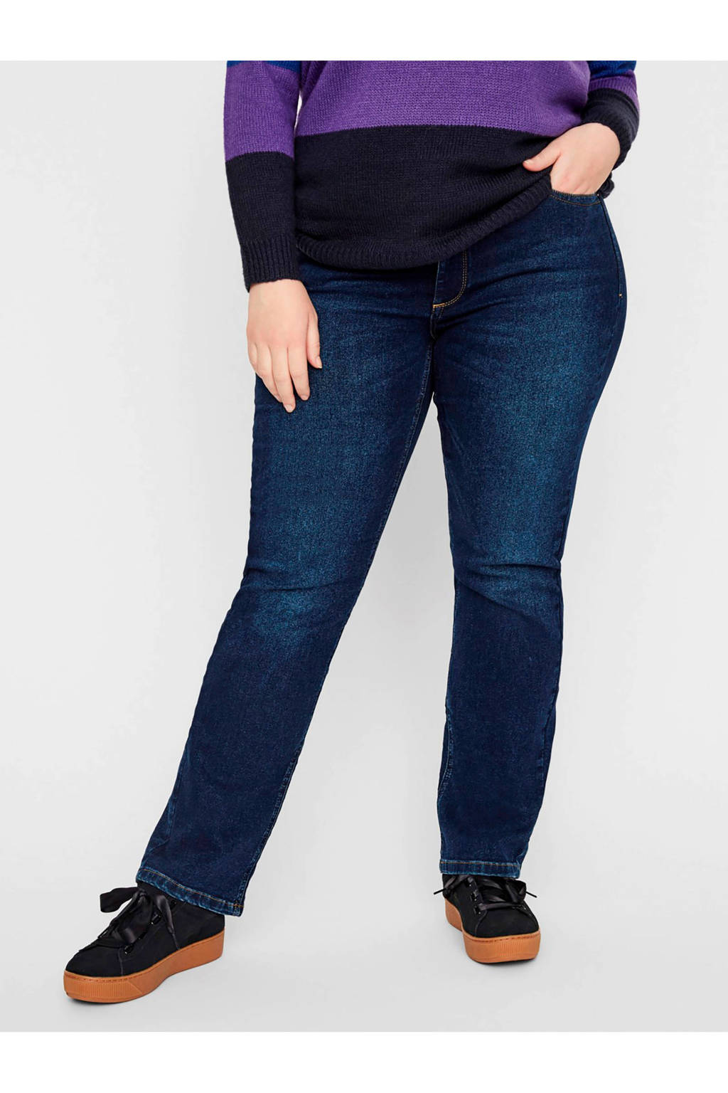 JUNAROSE slim fit jeans dark denim, Dark denim