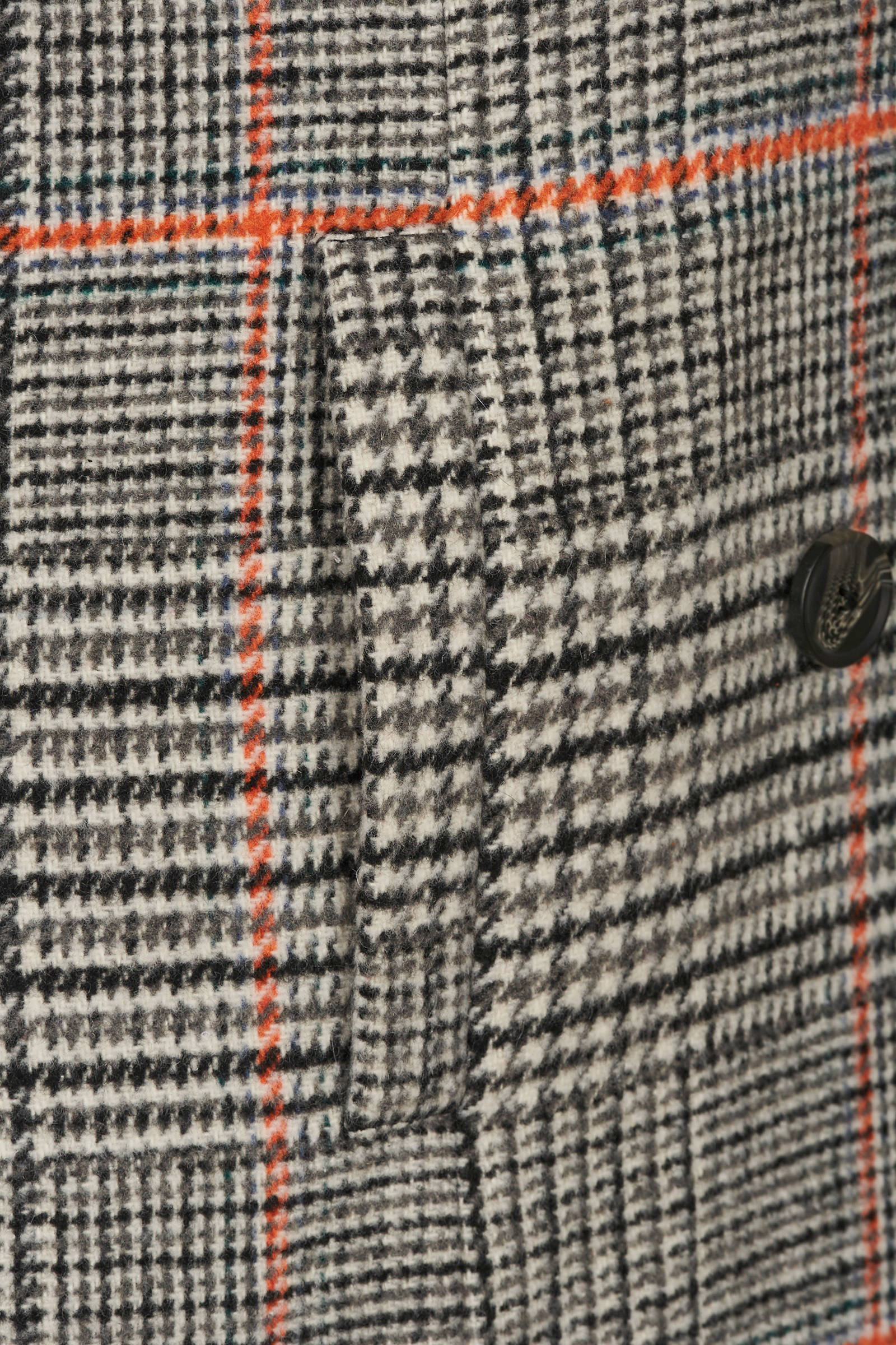 Zizzi geruite coat zwart/wit