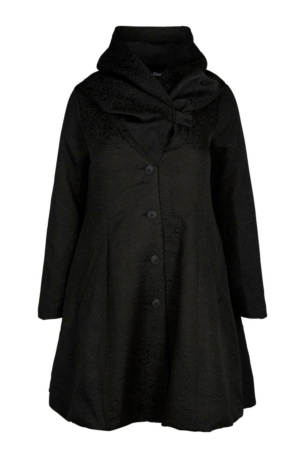 Zizzi winterjas zwart, Zwart