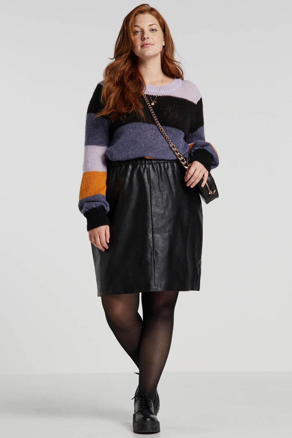 Zizzi fijngebreide trui met wol multi, Multi