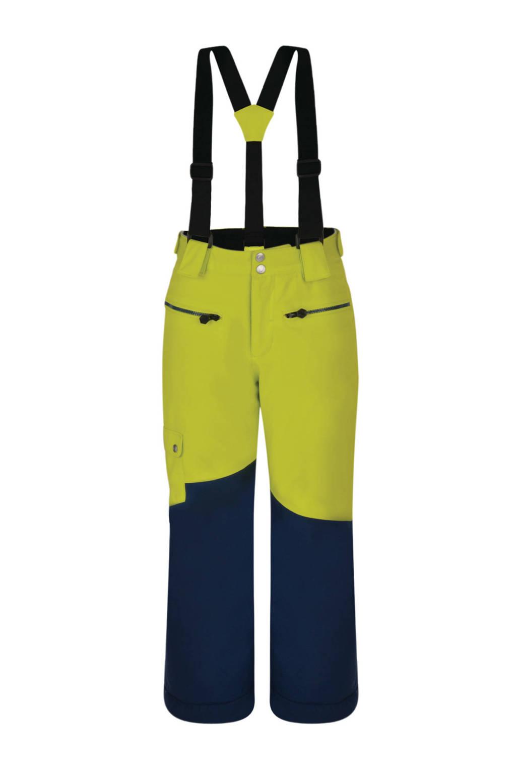 Dare2B skibroek Timeout limegroen/blauw, Limegroen/blauw