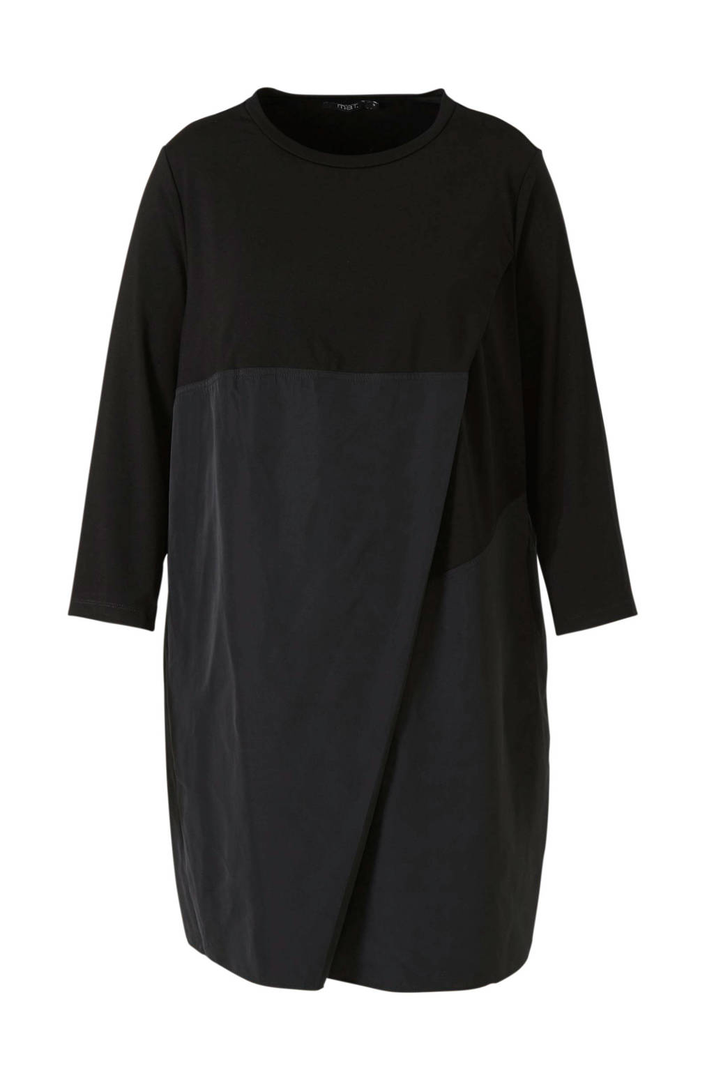 Mat Fashion jurk zwart, Zwart
