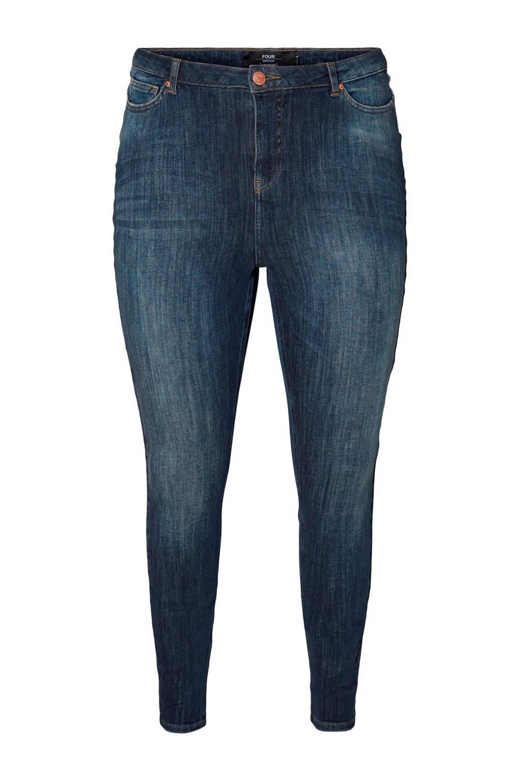 JUNAROSE high waist skinny jeans, Donkerblauw