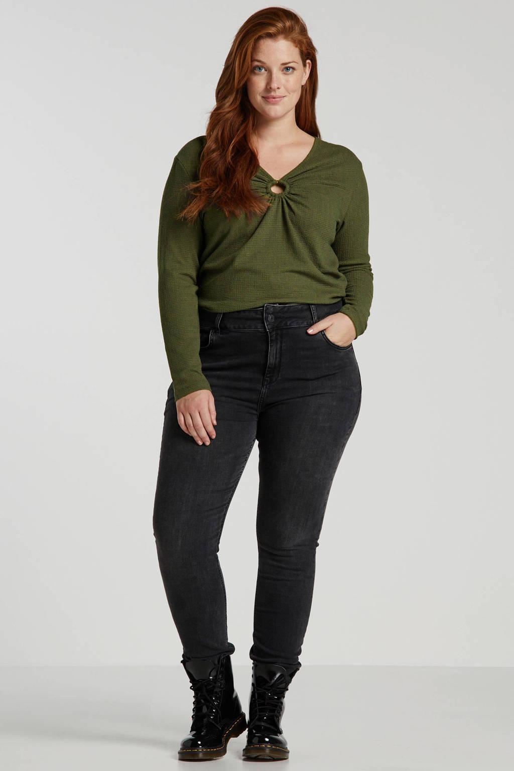 LTB Plus slim fit jeans Maren donkergrijs, Donkergrijs
