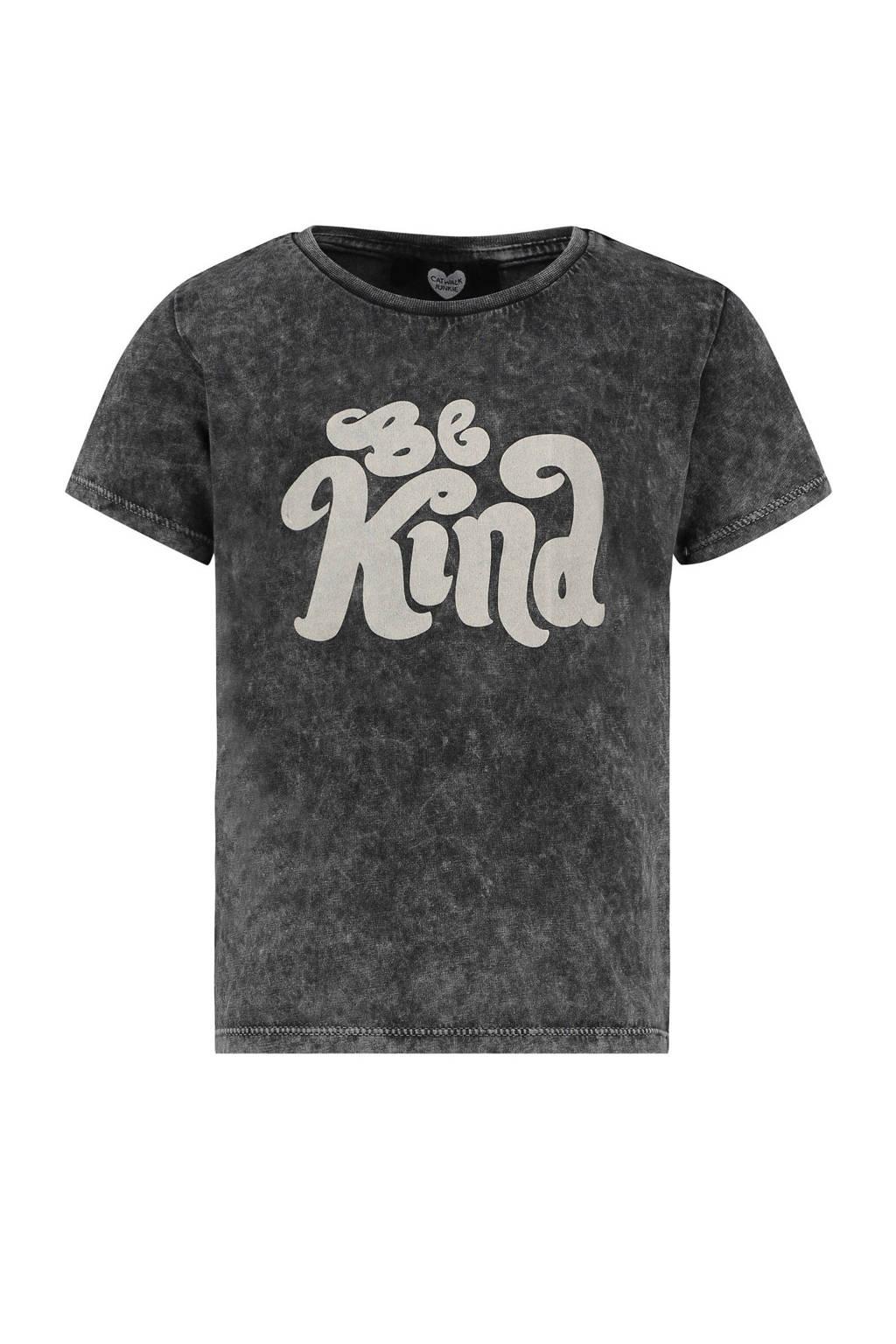 Catwalk Junkie x Huismuts T-shirt met tekst zwart, Zwart