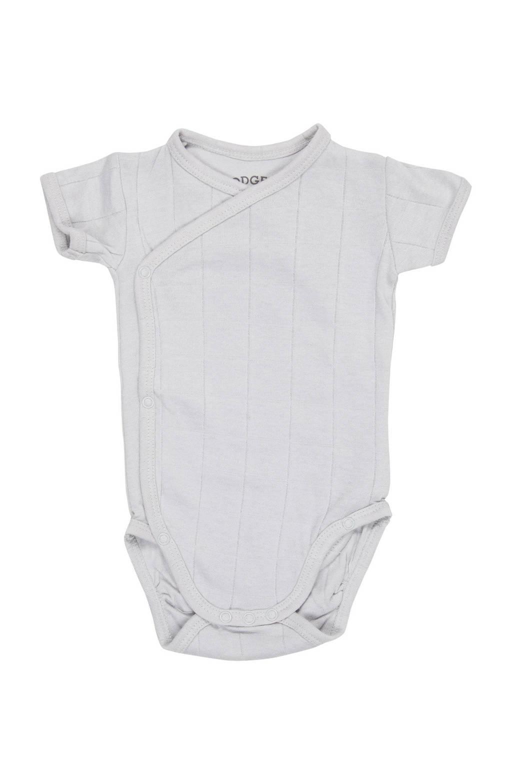 Lodger newborn baby romper Solid, Grijs