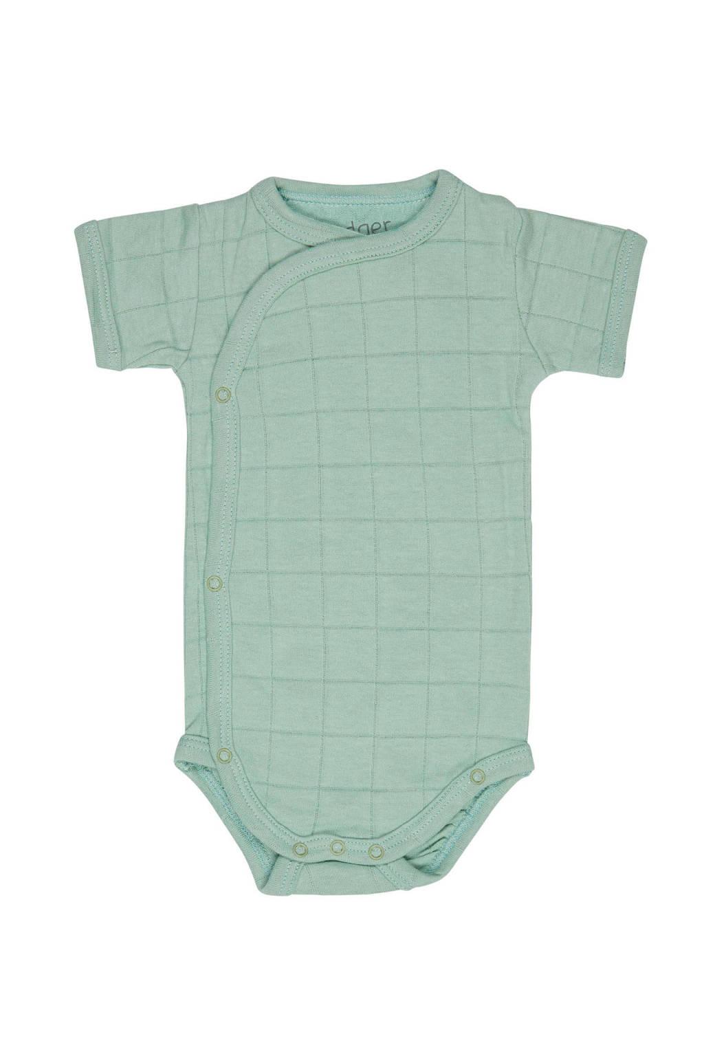 Lodger newborn baby romper Ciumbelle, Mintgroen