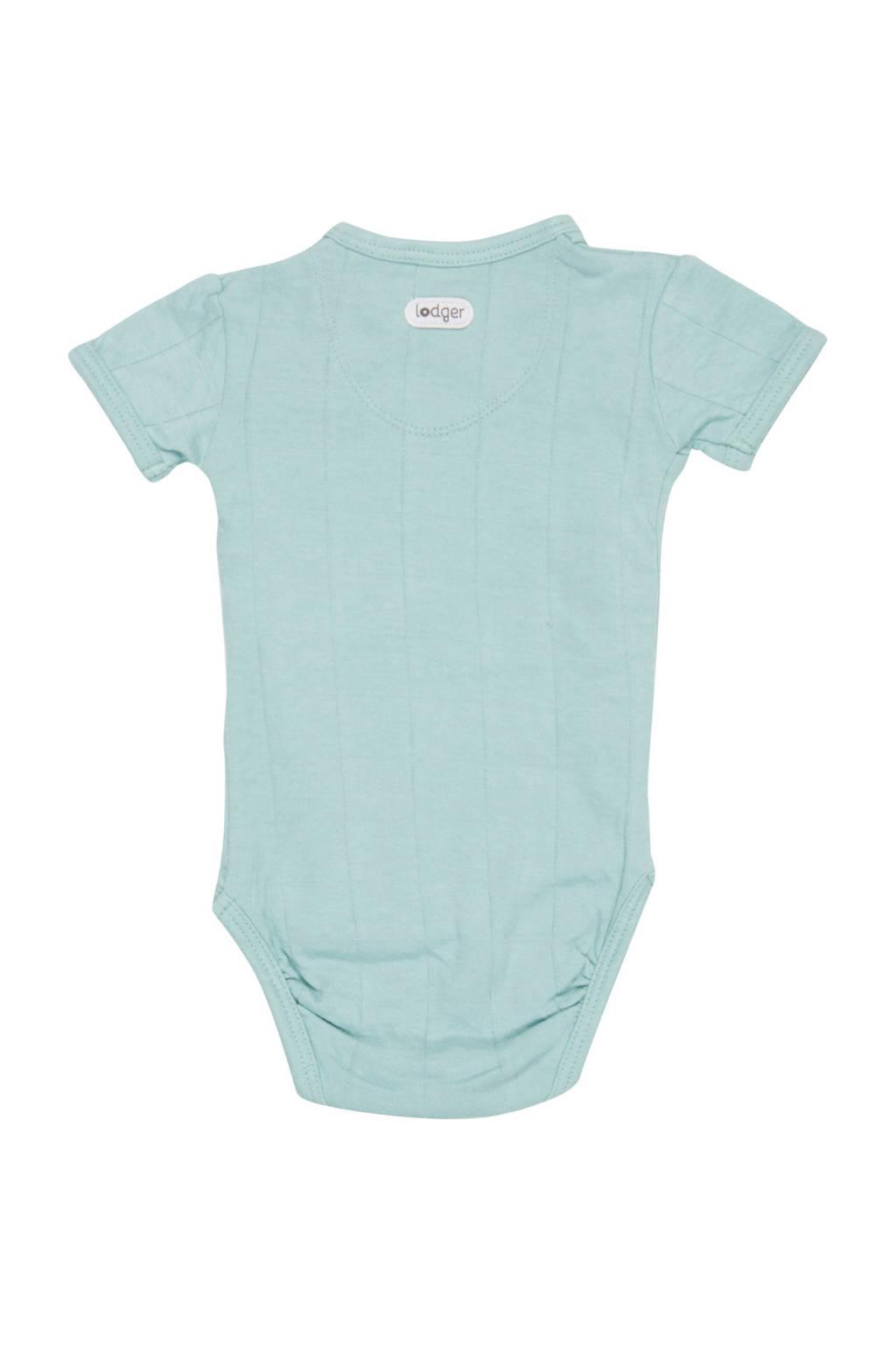 Lodger newborn baby romper Solid, Mintgroen