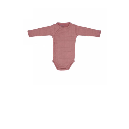 Lodger newborn romper Solid oudroze