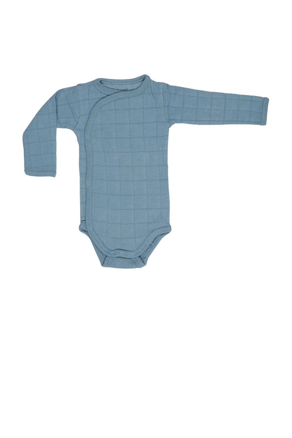 Lodger newborn baby romper Solid, Blauw