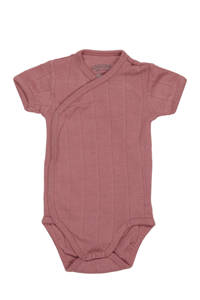 Lodger newborn baby romper Solid, Oudroze