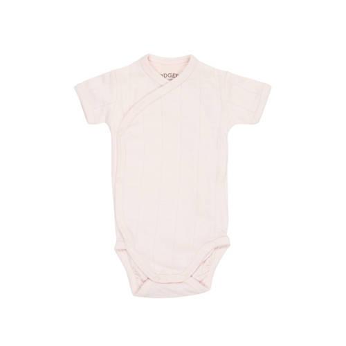 Lodger newborn romper Solid roze kopen