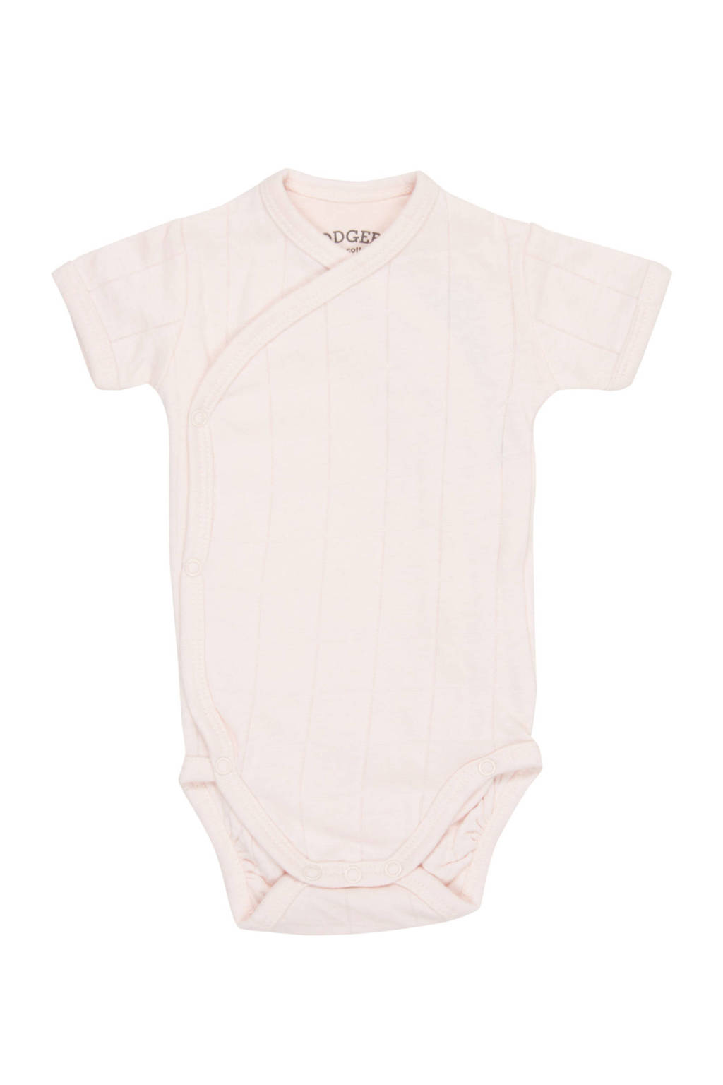 Lodger newborn baby romper Solid, Lichtroze