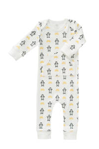 Fresk   newborn baby pyjama Pinguin wit, Wit