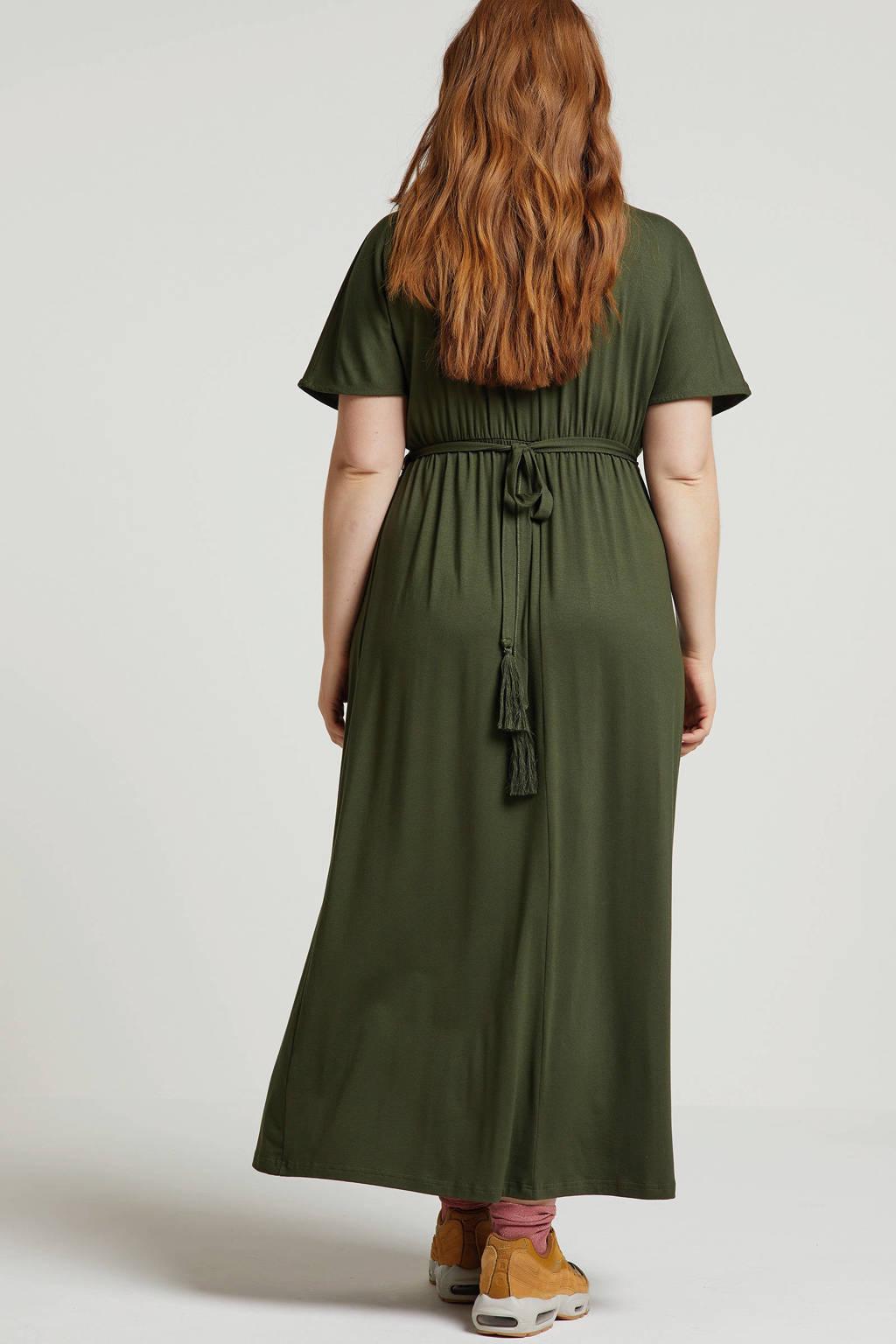 Studio Untold jurk met sierdetails groen, Groen