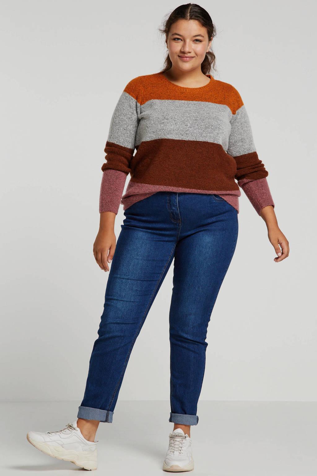 Zhenzi high waist slim fit jeans blauw, Blauw