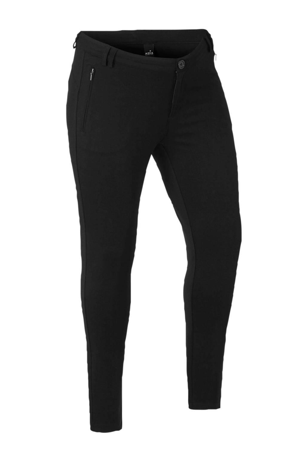 Adia skinny broek zwart, Zwart