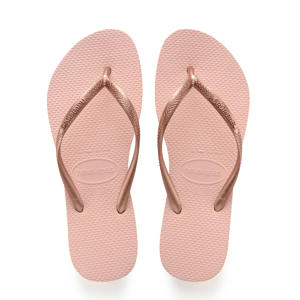 Slim teenslippers roze