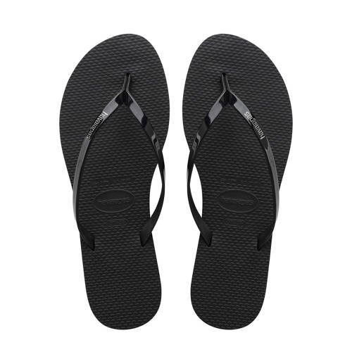 Havaianas-Slippers-Flipflops You Metallic-Zwart